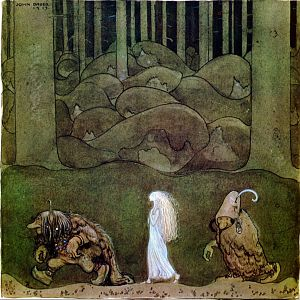 One evening around midsummer, they went with Bianca Maria deep into the forest, 1913, watercolor