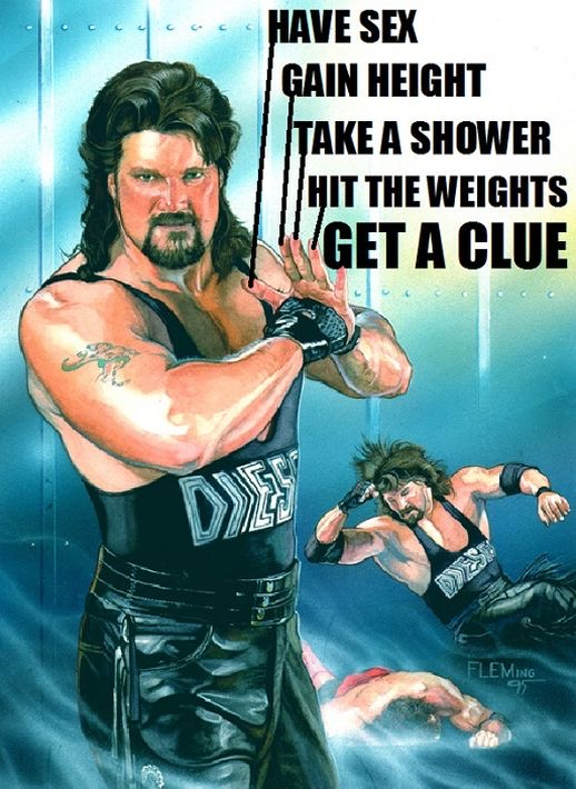 Kevin Nash (Diesel) - Gain Height, Have Sex, Take A Shower, Hit The Weights, Get A Clue